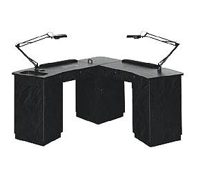 Kaemark Imperial L Shape Nail Table
