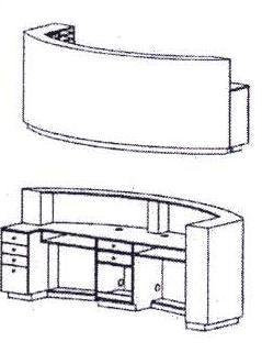 Takara Belmont Koken Arcoa Curved Reception Desk