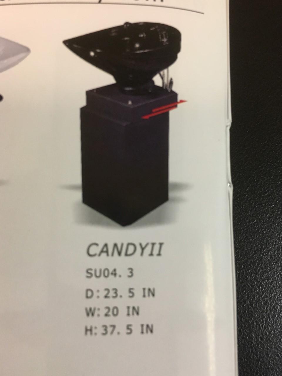 Mac - Candy II Sliding Basin Pedestal Shampoo Bowl Unit