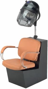 Pibbs - Latina Dryer Chair - Black Laminate Base (For Pole Dryer)