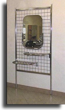 "Pibbs - Single Styling Station - 38"" X 80"" with Mirror and Shelves"