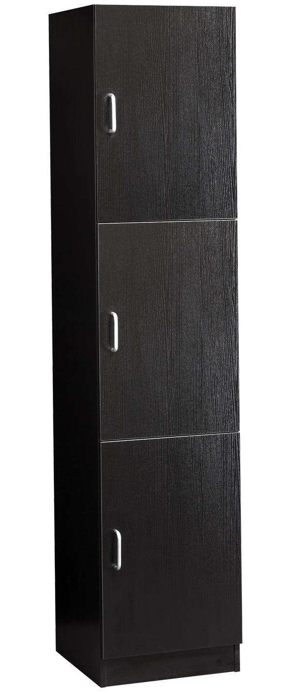 Savvy - Veronica Towel Storage Black Wood Grain #SAV-603