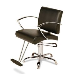 Veeco - Elliana Hydraulic Styling Chair on Star Base (Black Only)