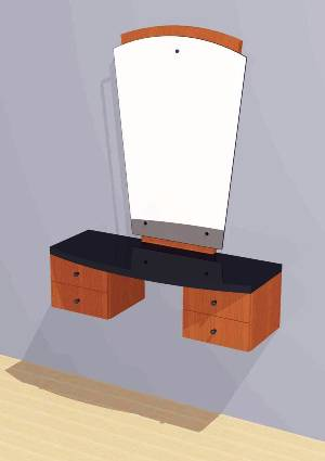 Mac - Styling Station w/ Mirror #1006