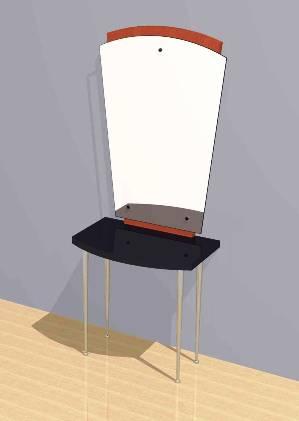 Mac - Styling Station w/ Mirror #1025