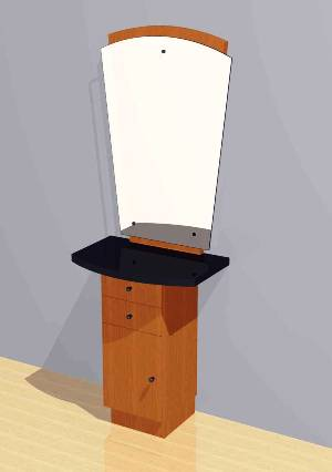Mac - Vertical Styling Station w/ Mirror #1007