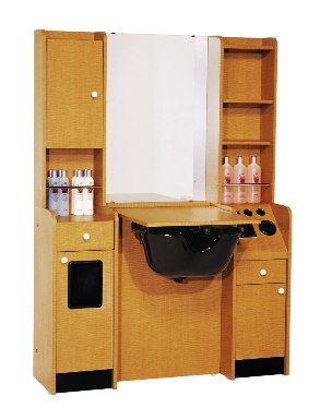 """Belvedere - Customline 25""""w Booth with 2-Sided Storage"""