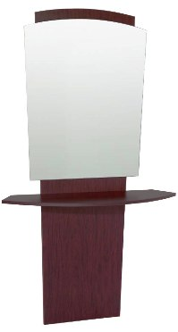 Belvedere - Pacific Mirror Panel & Curved Shelf