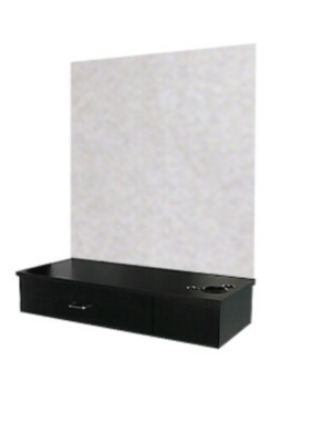 Collins - Wall-Mounted Styling Station with Wide Drawer