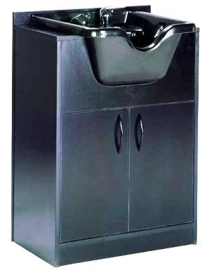 Mac - Black Shampoo Cabinet w/ Sink