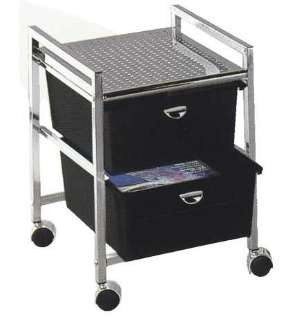 Pibbs - 2-Drawer Cart Metal Frame