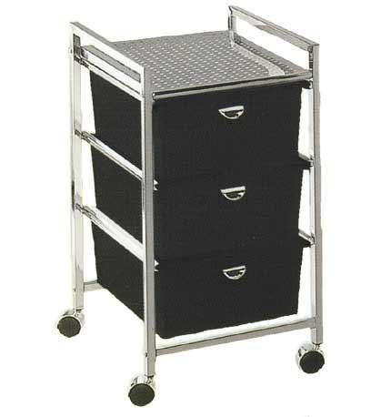 Pibbs - 3-Drawer Cart Metal Frame