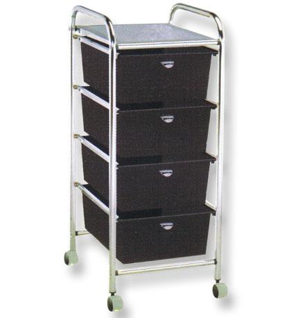 Pibbs - 4-Drawer Cart Metal Frame D26