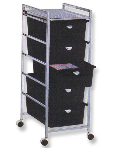 Pibbs - 5-Drawer Cart Metal Frame