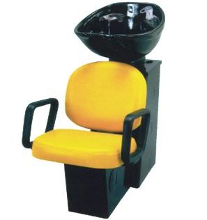 Pibbs - Backwash Unit with Black Porcelain Sink