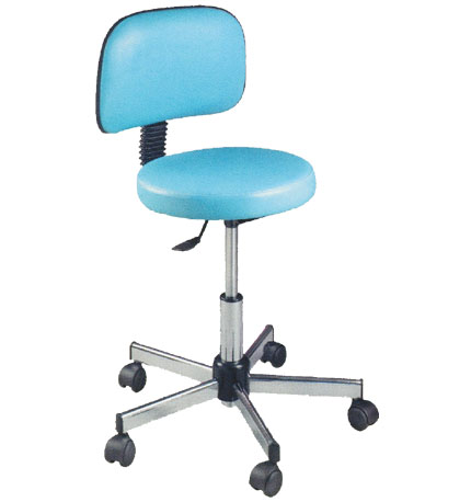 Pibbs - Round Seat Stool with Backrest