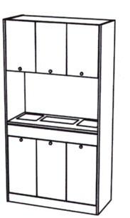 Takara Belmont - Koken Millennia Odyssey Freestanding Shampoo Storage