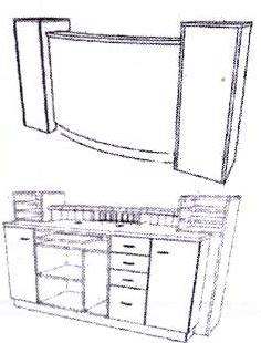 Takara Belmont - Koken Palazzo Curved Reception Desk