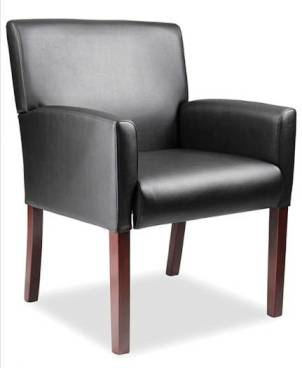 Veeco - Reception Chair w/ Mahogany Wood Finish