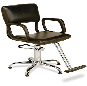 Veeco - Steel Frame Hydraulic Styling Chair on Star Base (Black Only)
