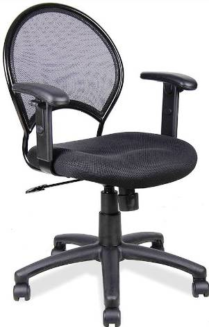 Veeco - Task Chair w/ Open Mesh Back & Adjustable Arms (Black Only)