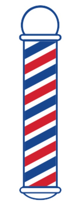 Samson - Barber Pole Cling Decal Sticker