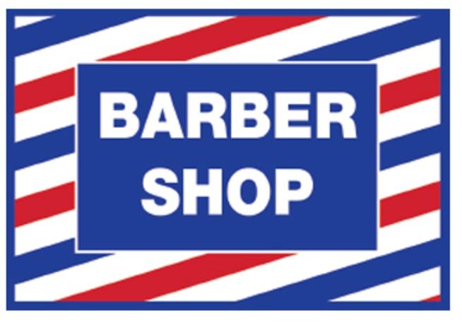 Samson - Barber Shop Cling Decal Sticker