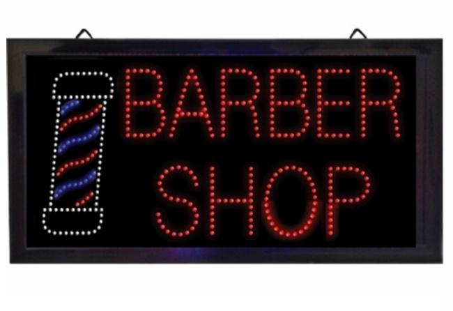 """Samson - """"BARBER SHOP"""" LED Sign"""