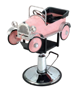 Pibbs - Pink Car Kid's Hydraulic Chair