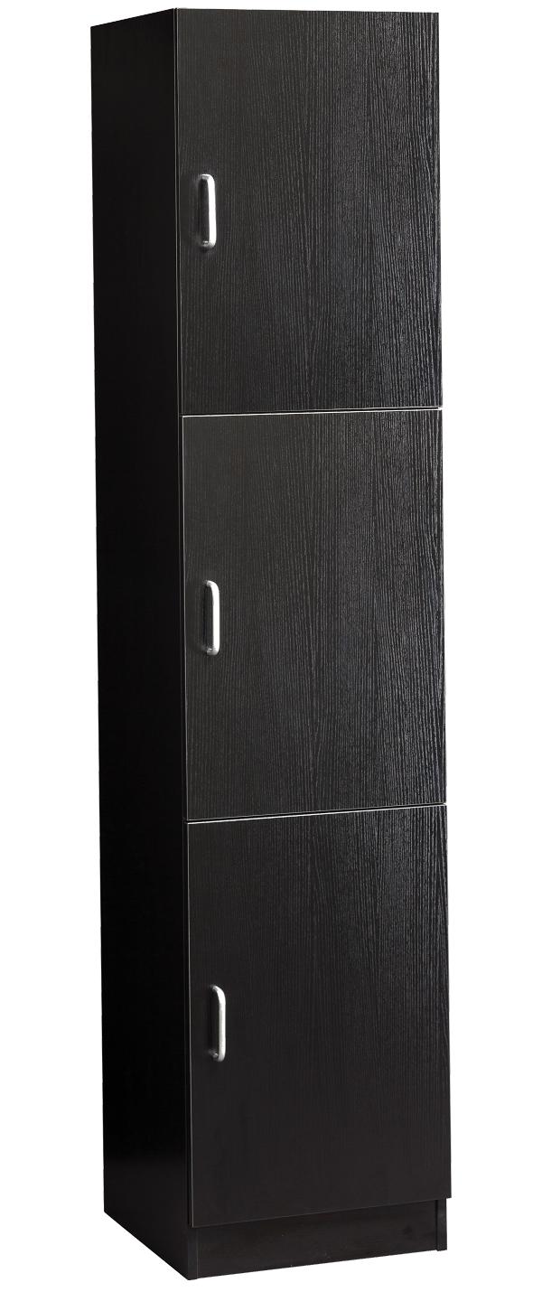 Savvy - Veronica Towel Storage Black Wood Grain #SAV-603