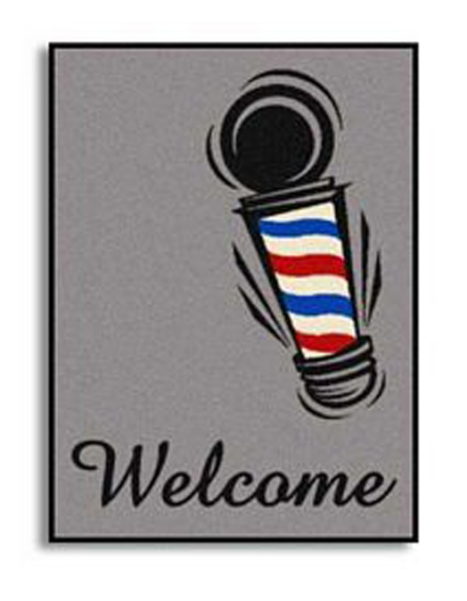 Samson - Barber Pole Welcome Mat