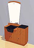 Mac - Shampoo Station and Bowl w/ Mirror and Storage Unit #1015