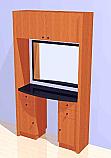 Mac - Styling Station w/ Overhead Storage #1021