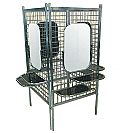 Pibbs - Deluxe 4-Way Styling Station with Mirror, Shelves & Clamps