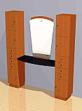 Mac - Styling Station w/ Two Storage Units and Mirror #1012