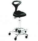 Mac - Pouff Black Stool with Backrest - #56034 (R2GO)