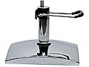 Mac - Large Chrome Square Hydraulic Base