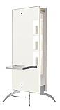 Salon Ambience - Moon Island Styling Unit with Aluminum Shelves