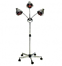 Pibbs - 3 Headed Lamp with Deluxe Base and Chrome Arms