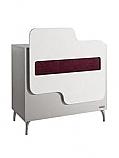 Salon Ambience - Antares Reception Desk - White Lacquer Panel