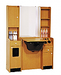 "Belvedere - Customline 25""w Booth with 2-Sided Storage"
