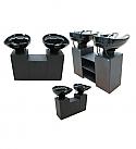 Mac - Candy Double Basin Pedestal Shampoo Unit