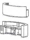 Takara Belmont - Koken Arcoa Curved Reception Desk