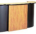 Belvedere - Crest Desk W/Optional Cash Drawer and Storage